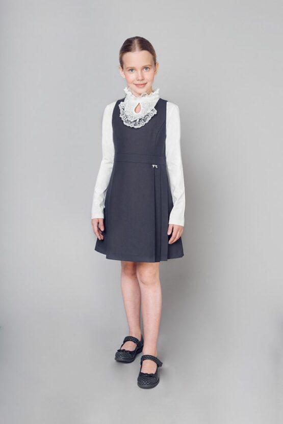 Մուգ կապույտ կլասիկ զգեստ