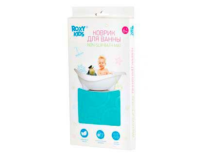 Коврик для ванны антискользящий аквамарин
