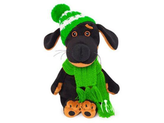 Мягкая игрушка Ваксон BABY в шапочке и шарфе