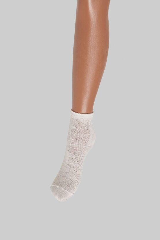 Носочки ажурные белые и экрю