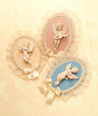 Панно настенное «Ангел» с кружевным декором