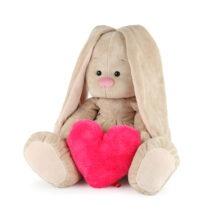 Игрушка мягконабивная Зайка Ми Большой с сердцем
