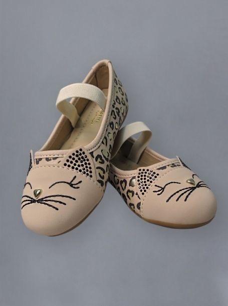 Туфли на резинке, леопард/беж, д.дев.