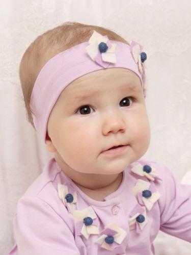 Повязка-бант на голову с розовыми цветами Этюд Франсез