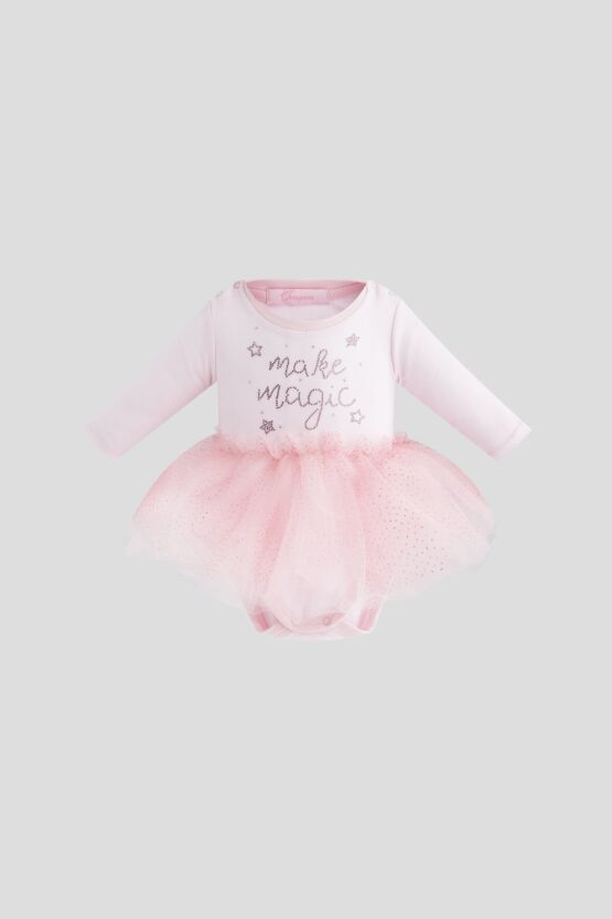 Платье-боди со стразами, розовый