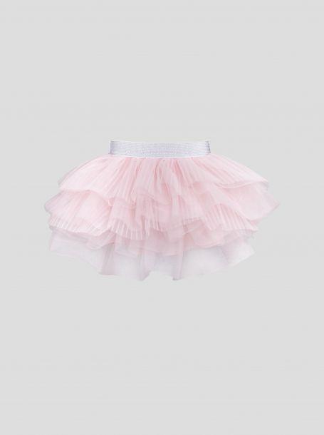 Юбка ту-ту многоярусная из сетки, розовый