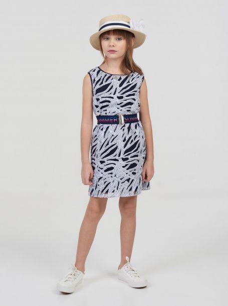 Платье нарядное с фактурной вышивкой на сетке