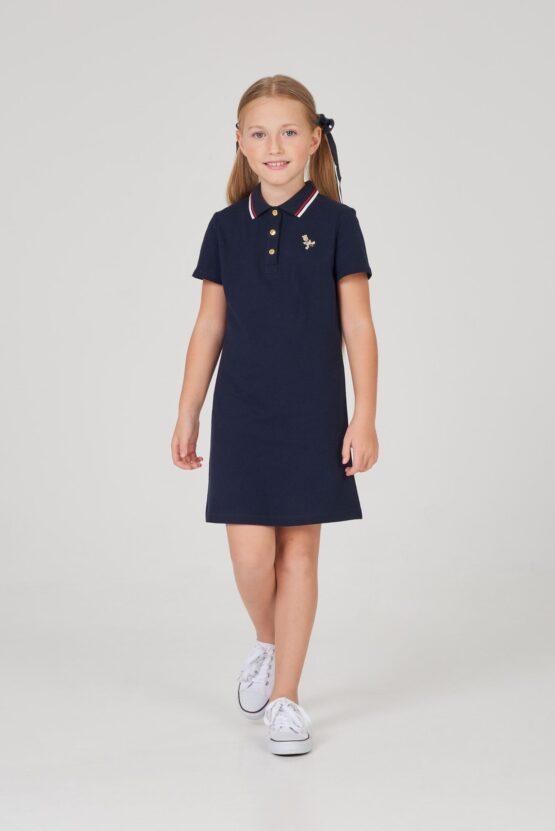 Платье-поло из трикотажного пике