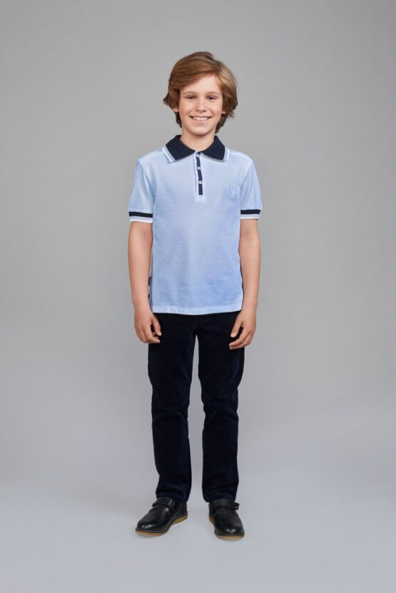 Сорочка верхняя с воротником типа «поло» короткий рукав