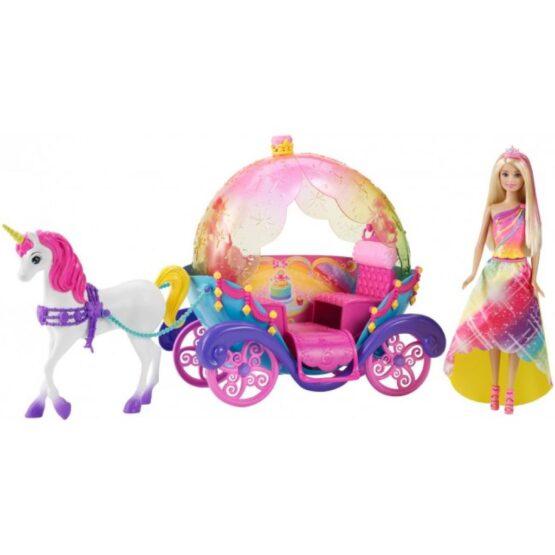 Կառք և տիկնիկ Barbie
